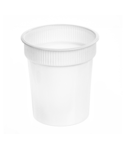 166 - Polypropylene DAIRY cup 600ml, 95mm diameter