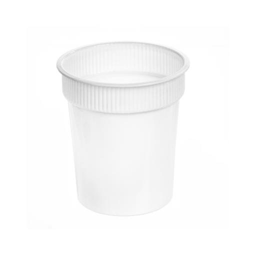 166 - Polypropylene DAIRY cup 600ml, 95mm diameter