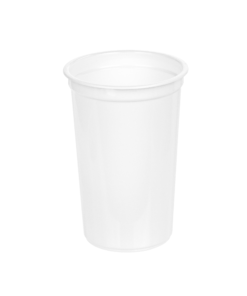 205 - Polypropylene DAIRY cup 220ml, 75mm diameter