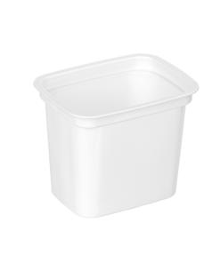 603 - Polystyrene DAIRY cup 500ml, 112mm x 84mm diameter