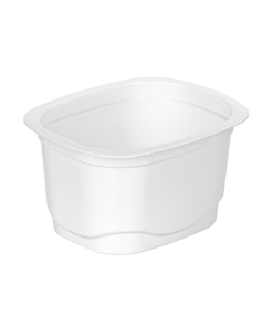 642 - Polypropylene DAIRY cup 175ml, 94mm x 77mm diameter