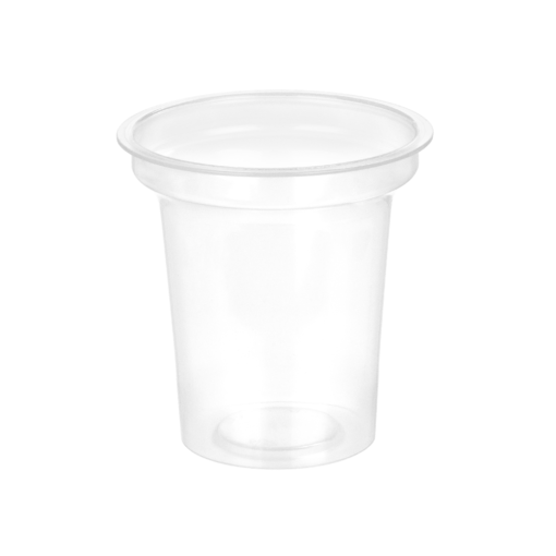 117 - Polypropylene DAIRY cup 140ml, 75mm diameter
