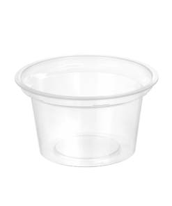 158 - Polypropylene DAIRY cup 170ml, 95mm diameter