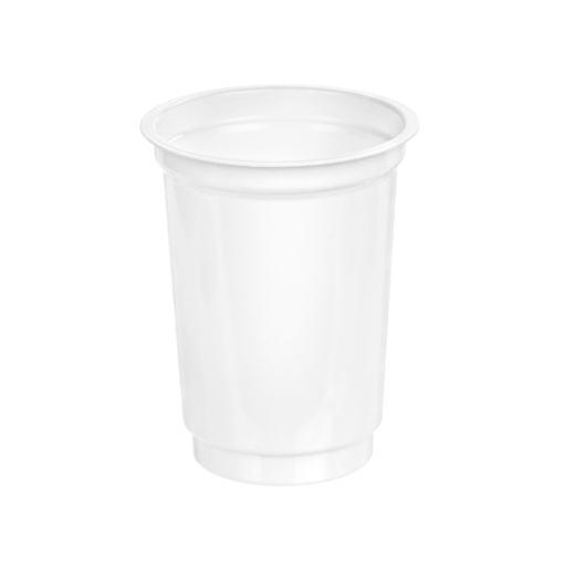 203 - Polystyrene DAIRY cup 220ml, 75mm diameter