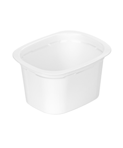 643 - Polypropylene DAIRY cup 180ml, 94mm x 77mm diameter