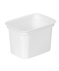 675 - Polystyrene DAIRY cup 350ml, 112mm x 84mm diameter
