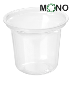 251 - Polypropylene DAIRY MonoCUPP 250ml, 95mm diameter